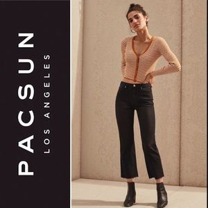 PacSun Eight Ball High Rise Kick Flare Black Jean